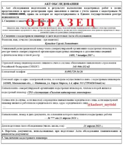 Акт обследования (снос здания)