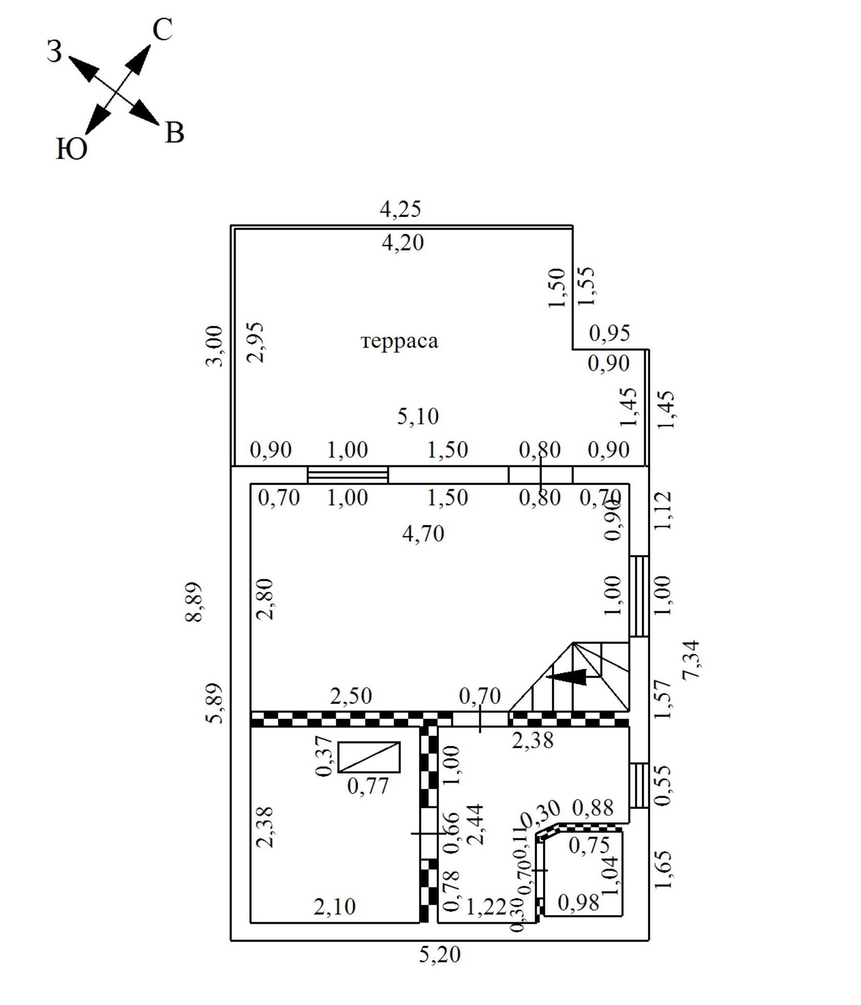 Технический план бани