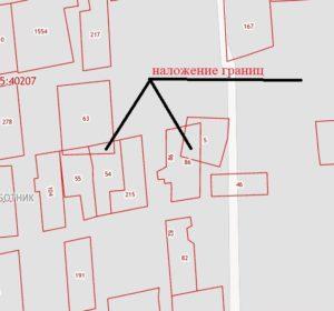 Наложение границ на ПКК